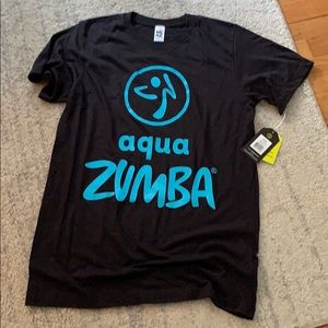 New Aqua Zumba Instructor t shirt M/ L